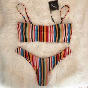 ZAFUL multi Striped bikini